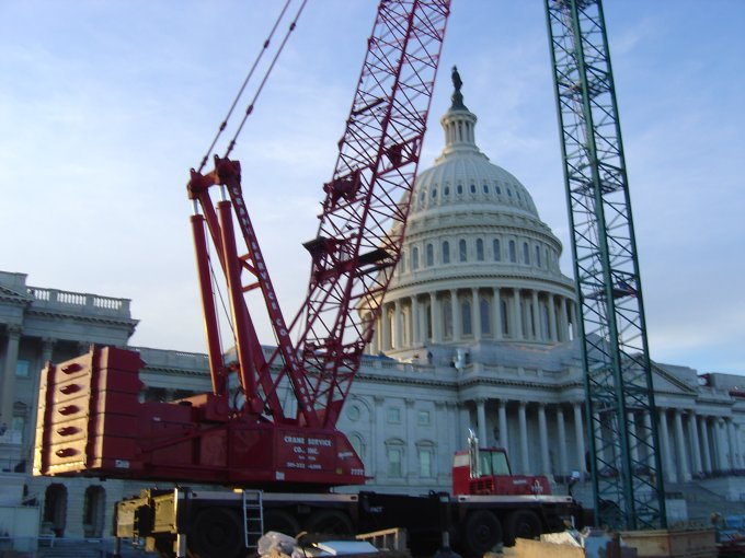 Crane at Capitol Vistor Center