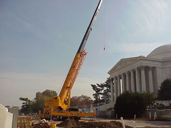 Crane at Jefferson Memorial