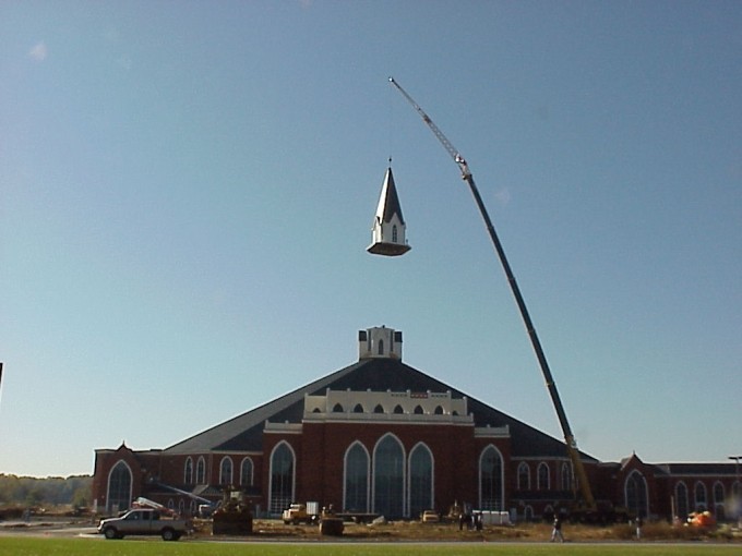Crane at Church